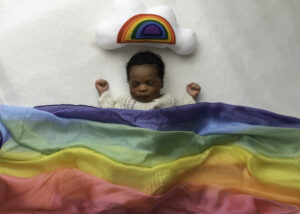 newborn rainbow photo